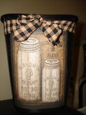 Canning jar Trashcan trash can kitchen laundry baby nursey shabby boho farmstyle