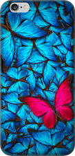 Blue Butterflies Apple iPhone 6 Plus Shock-Absorption Bumper Cover HD Clear