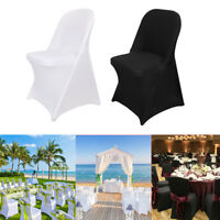 1-10X Elastic Polyester Spandex Banquet Wedding Chair Slipcovers Folding Chair