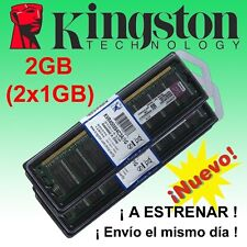 Memoria RAM Kingston 2GB (2 x 1GB) DDR 400 - NO COMPATIBLE CON INTEL