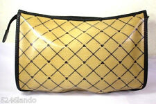 Vintage LANVIN Coated Canvas Toiletery Cosmetics Clutch Handbag Bag Italy