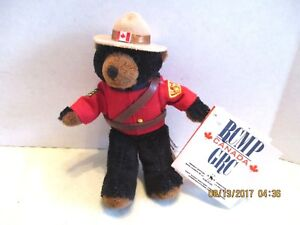 Miniature Royal Canadian Mounted Police RCMP-GRC  Fuzzy Black Bear Figure