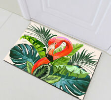 Tropical Flamingo Palm Home Bedroom Non-slip Floor Carpet Bath Mat Rug Doormat