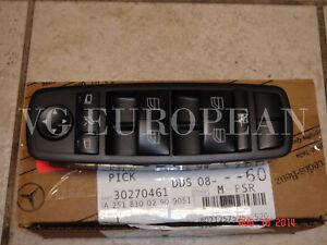 Mercedes-Benz GL R Class Genuine Left Front Door Window Mirror Master Switch NEW