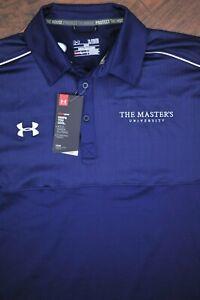 NWT Under Armour Golf Performance Polo Shirt Master's University Navy Men's XL