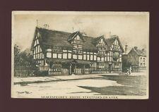 Warwickshire Warwicks STRATFORD-ON-AVON Shakespeare's House GWR Railway 1926 PPC