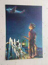 Vtg Birth of Ambition Cucchi Boy Dog Plane Calendar Art Print Salesman Sample