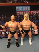 WCW Wrestling USED OSFTM Lex Luger Bill Goldberg Figures WWE