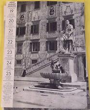 1956 ITALIE PALAIS DES CAVALIERS FONTAINE ET STAUE DE COME 1er DE MÉDICIS