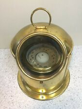 Vintage Compass & Binnacle Brass Lacquered Marine Navigational Device