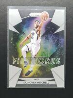 "2018-19 Panini Prizm Basketball Donovan Mitchell ""Fireworks"", Utah Jazz"
