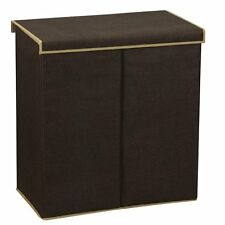 Household Essentials 5614 Double Hamper Laundry Sorter with Magnetic Lid