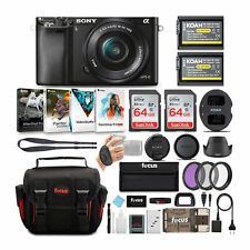 Sony Alpha a6000 Mirrorless Camera Bundle w/ 16-50mm Lens + two 64GB SD Cards