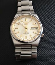 GENUINE VINTAGE SEIKO 5 7S26 AUTOMATIC WHITE FACE 21 JEWELS MENS WATCH