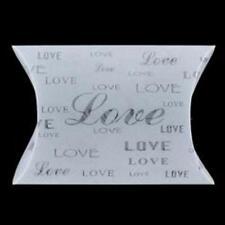 1 PVC PILLOW LOVE FROSTED BOX BOXES WEDDING/BRIDAL BOMBONIERE FAVOUR 10X16.5CM
