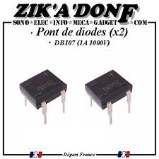 LOT DE 2 Pont de diodes DB107 1A 1000V (Expédié depuis la France)