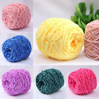 Velvet Coral Yarn Handmade Knitting Yarn Woven For Sweater Scarf Craft DIY AUS