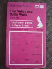 Ordnance Survey MAP 1; 50,000 147 builth Wells 1982 RENATO Wells DEVIL'S BRI
