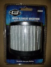 Mr Gasket 2049 Open Element Valve Cover Breather, Push-On, 1.25 Inch 1 1/4 HOLE