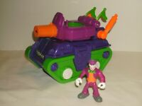 Imaginext DC Super Friends Vehicle Joker Surprise Tank With Joker Figure