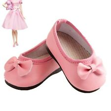 Handmade Fashion Cute Pink Boot Shoes For 16inch American Kids Doll Party Gifts