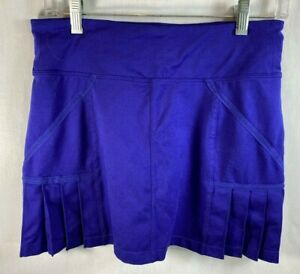 Athleta Purple/Blue Skort Front  Pleats Tennis/Activewear Back Pocket Size S