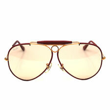 Vintage Ray Ban Bausch and Lomb Leathers Ostrich Tan Changeable 62 mm Sunglasses