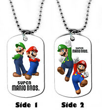 DOG TAG NECKLACE - Gaming 1 Super Mario Bros Brothers 1