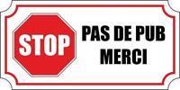 Autocollant sticker voiture moto boite aux a lettre stop pub anti