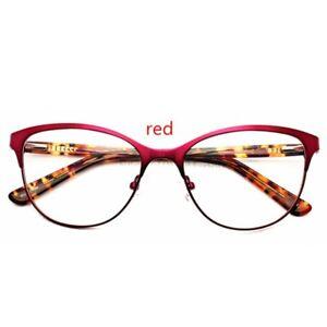 Vintage Cat Eye Plano Glasses Frames Retro Optical Eyeglasses Women Spectacles