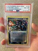 Charizard Gold Star PSA 8 2006 Pokemon EX Dragon Frontiers 100/101
