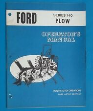 VINTAGE FORD TRACTOR SERIES 140 PLOW OPERATOR'S MANUAL SE 03370 Farming