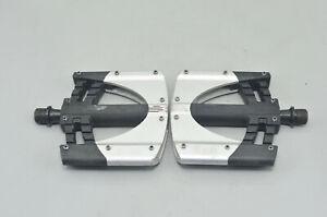 "Crankbrothers 5050 2 Alloy Platform Pedals Mountain Bike Silver/Black MTB 9/16"""