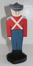 Handmade Painted Christmas Wood Toy Soldier Figurine Decor