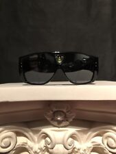 RARE Authentic Vintage Louis Vuitton Bindi Sunglasses Black W/ Peridot Gem Stone