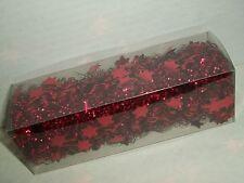 9' Red Tinsel Garland Stars Mini Trim Christmas Tree Wedding Table Decor Target