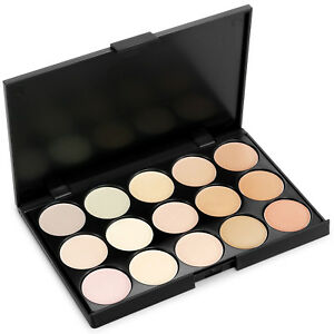 15 Colors Makeup Face Concealer Contour Kit Set Highlighter Cream Palette Beauty