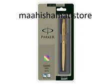 Parker CLASSIC Gold GT Ball point Pen Gold Trim Ballpoint New Blue Ink FREE SHIP