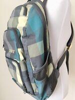 Dakine Backpack Travel Laptop Plaid Gray School Sports Pockets AS IS