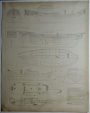Marine Hollandaise Côtre de 8 canons Botter 1878  planche XX e 1910/SMB35