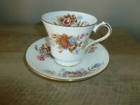 Aynsley SUMMERTIME Cup & Saucer Fine English Bone China with Gold-Free Shipping!