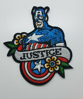 Captain America Justice Patch 4 inch tall