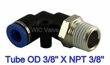 5pcs Pneumatic Male Elbow Connector  Tube OD 3/8