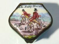 Antique French  ' The Hobby Horse ' Enamel Snuff Box #B12