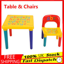 ABC Childrens Plastic Table and Chair Set Kids Toddler Child Activity Alphabet
