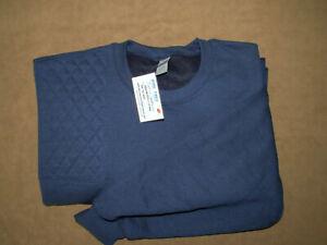 NEW! 2XL Right Hand Trap/Skeet Pad NAVY BLUE 50/50 Blend Sweatshirt