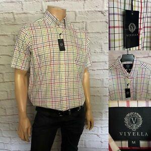 Viyella Short Sleeve Casual Shirt, Size M, L, XL, Check, Cotton, BNWT