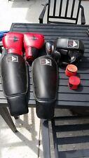Century Martial Arts Sparring Gear Adult L/Xl Helmet, shin guards, gloves, wraps
