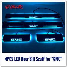 2 PCS/ 4 PCS LED Door Sill scuff Colorful moving light For GMC trucks