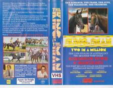 HORSE RACING THE KING AND THE MAN TWO IN A MILLION  VHS VIDEO PAL~